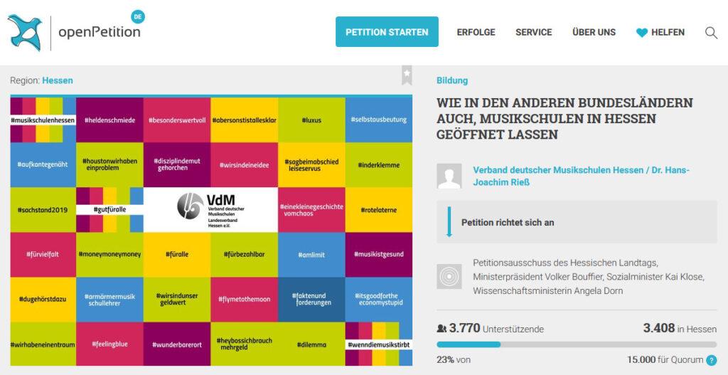 Bildschirmfoto openPetition.de
